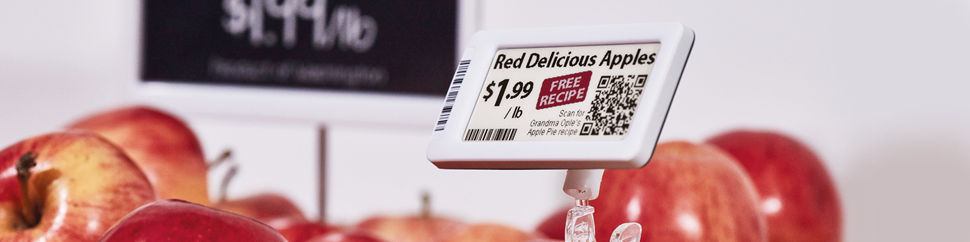 Displaydata Electronic Shelf Labels (ESLs) for grocery
